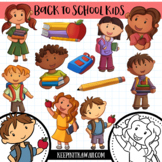 School Kids Back to School Clip Art Set