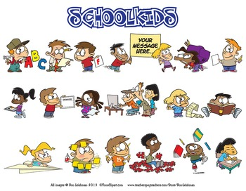 School Kids Cartoon Clipart Vol. 1
