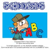 School Kids Cartoon Clipart Vol. 1 | School kids for ALL grades