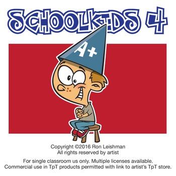 School Kids Cartoon Clipart Vol. 4