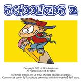 School Kids Cartoon Clipart Vol. 2 | School kids for ALL grades