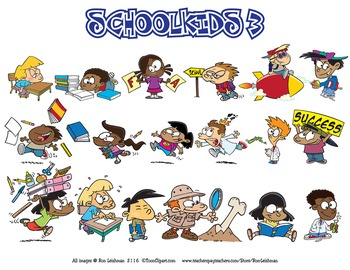 School Kids Cartoon Clipart Volume 3