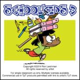 School Kids Cartoon Clipart Vol. 3   School kids for ALL grades