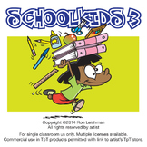School Kids Cartoon Clipart Volume 3