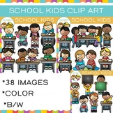 School Kids Clip Art {Whimsy Clips School Clip Art}