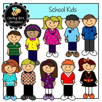School Kids Clip Art Set