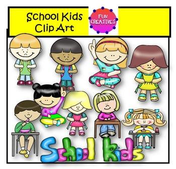 School Kids Clip Art- Fun Creatives