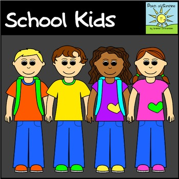 School Kids Clip Art *Patch of Sunshine*