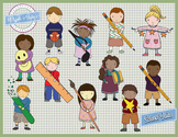 School Kids Clip Art Set