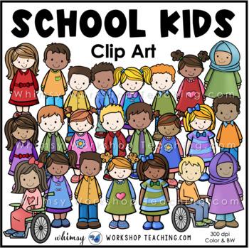 School Kids Clip Art - Whimsy Workshop Teaching