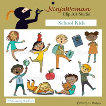 School Kids Clip Art by NinjaWoman