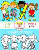 School Kids Clipart Freebie!