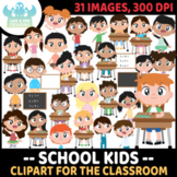 School Kids Clipart (Lime and Kiwi Designs)