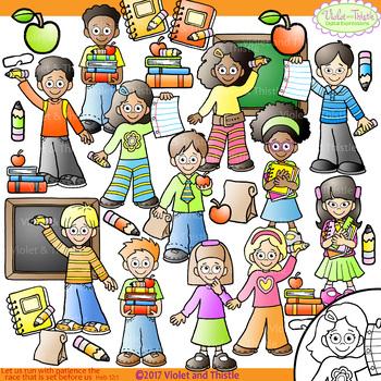 School Backpack Kids Books Chalkboard Clipart Clip Art