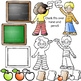 Back to School Clipart School Kids Clipart Chalkboard Clip Art