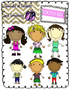 School Kids {Confetti and Creativity Clip Art}