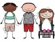 School Kids Digital Clip Art Set
