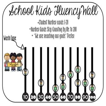 School Kids Fluency Data Wall