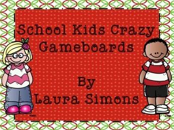 School Kids Gameboard Sample Freebie