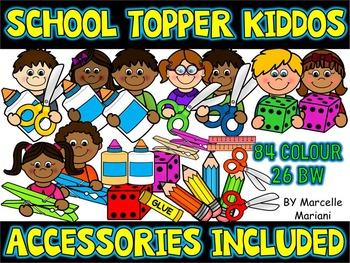 School Kids Toppers Clip art & school supplies Clipart