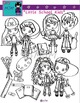 Cute Fashionable School Kids Clip Art Bundle