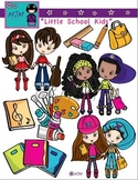 Cute Fashionable School Kids Clip Art Bundle