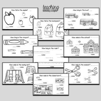 School Kindergarten Measurement Activities with Snap Cubes