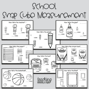 School Kindergarten Measurement Activities with Snap Cubes