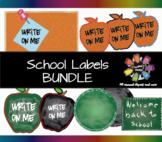 School Labels BUNDLE