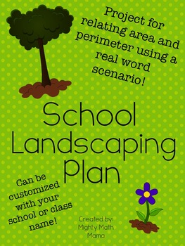 School Landscaping Plan - shapes with same area but different perimeter