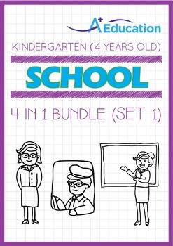 4-IN-1 BUNDLE - School (Set 1) - Kindergarten, K2 (4 years old)