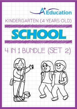 4-IN-1 BUNDLE - School (Set 2) - Kindergarten, K2 (4 years old)