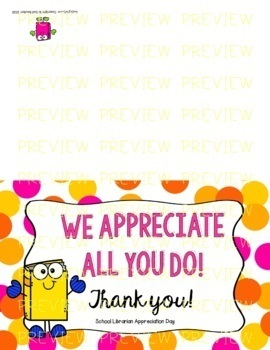 School Librarian Appreciation Day - April 4th