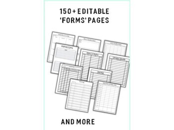 School Library Binder/Planner: School Theme