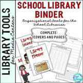 Library Planner Binders School Theme