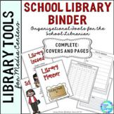 Library Planner Binders School Theme
