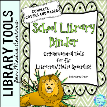 School Library Binder/Planner: Jungle Theme