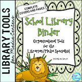 Library Planner Binders Jungle Theme