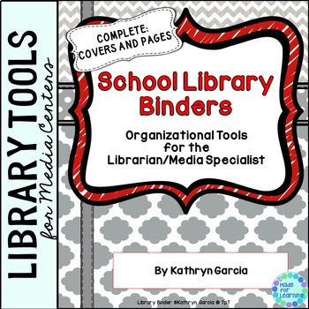 Library Planner Binders Gray-Red