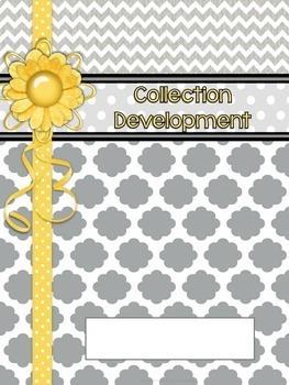 School Library Binder/Planner: Gray/Yellow