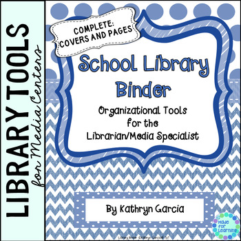 School Library Binder/Planner:  Blue