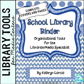 Library Planner Binders Blue