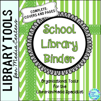 Library Planner Binders Green