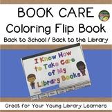 School Library Book Care Coloring Flip Book Primary