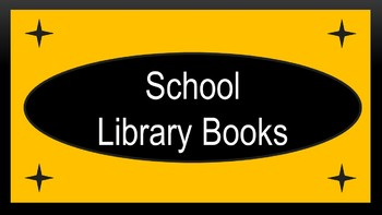 """School Library Books Crate Label - Black & Gold (""""Midnight"""