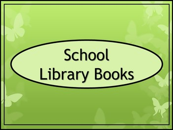 School Library Books Crate Label - Butterfly Theme