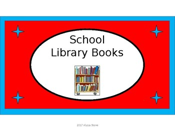 School Library Books Crate Label - Dr. Seuss Tribute Colors with Clipart