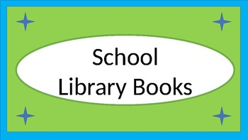 School Library Books Crate Label - Lime & Teal