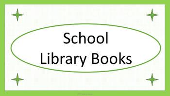 School Library Books Crate Label - Lime & White Mini-Polka Dots