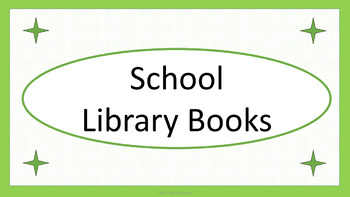 School Library Books Crate Label - Lime & White Mini-Polka Dots